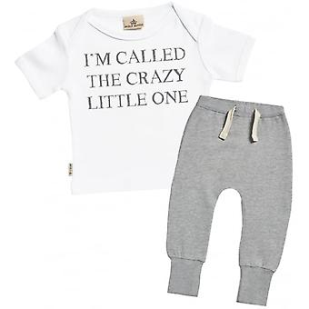 Spoilt Rotten Crazy Little One Baby T-Shirt & Joggers Outfit Set