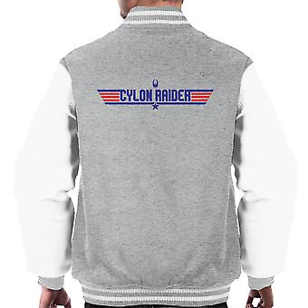 Top Gun Logo Cylon Raider Battlestar Galactica Men's Varsity Jacket