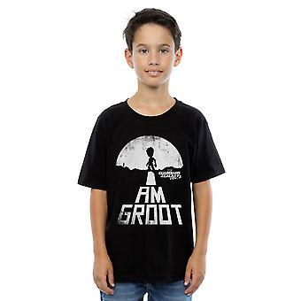 Bewundern Sie jungen Guardians Of The Galaxy, ich bin, Groot T-Shirt weiß