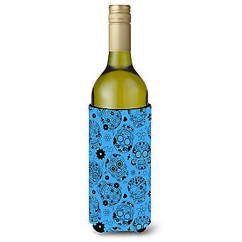 Day of the Dead Red Wine Bottle Beverge Insulator Hugger