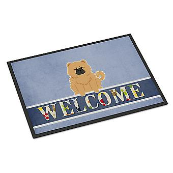 Chow Chow Cream Welcome Indoor or Outdoor Mat 18x27