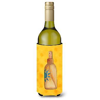 Nachricht in einer Flasche gelb Polkadot Wein Flasche Beverge Isolator Hugger