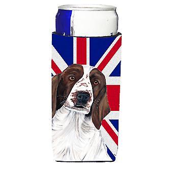 Springer Spaniel mit englischen Union Jack britische Flagge Ultra Getränke Isolatoren