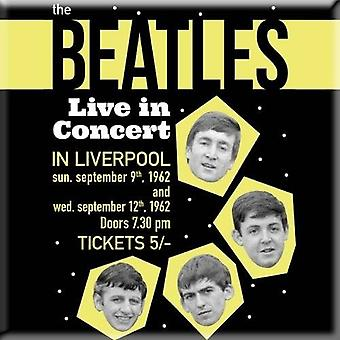 The Beatles Fridge Magnet Live in Concert 1962 poster new Official 76mm x 76mm