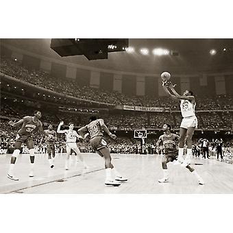Michael Jordan Jump Shot Poster Poster Print