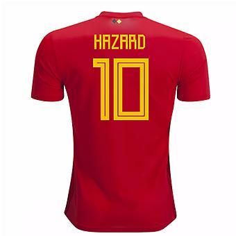 2018-2019 Belgien Adidas hem skjorta (riskkvot 10)