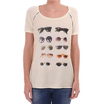 Maison Scotch Ss Cn T Shirt With Sunglasses Photo On The Front
