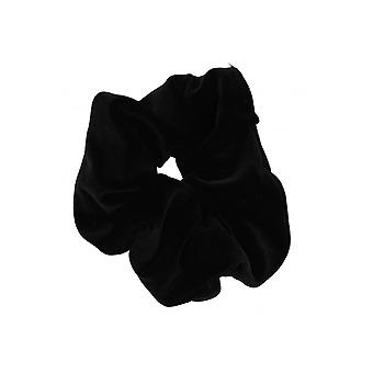Attitude Clothing Black Velvet Scrunchie