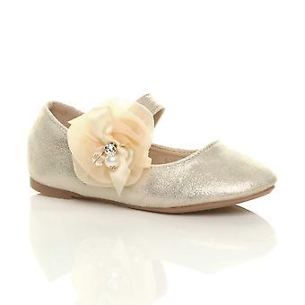 Ajvani dziewczyny płaskie mary jane ślub przebieranki kostium księżniczki druhna buty balerinki