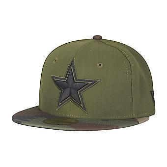 New era 59Fifty KIDS Cap - Dallas Cowboys camo olive / wood