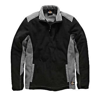 DICKIES Mens Workwear deux ton Micro Fleece gris noir JW7011G