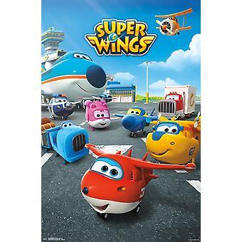 Super vingar - gruppen affisch Skriv
