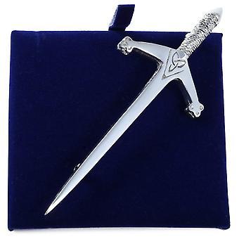 Celtic Trinity Knot Sword Pewter Kilt Pin