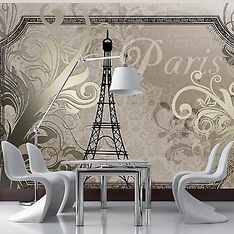 Fototapete - Vintage Paris - gold