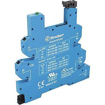 Finder 93.60.7.024 Relay socket + bracket, + LED, + EMC emission supressor Compatible with series: Finder 34 series Finder 34.51, Finder 34.81 1 pc(s)