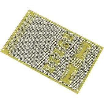 Conrad onderdelen SU527858 SMD eurocard PCB Epoxide (L x W) 160 x 100 mm 35 µm Contact afstand 2,54 mm inhoud 1 PC('s)