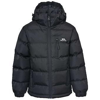 Trespass chłopców Tuff ciepły Gruby wyściełane kurtka zimowa Black