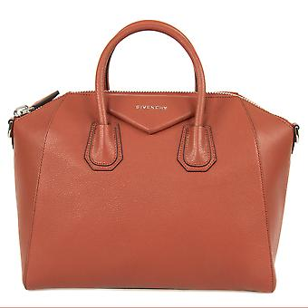 Givenchy, Antigona suiker geitenleer, leerzak Satchel | Burnt Orange met zilveren Hardware | Medium