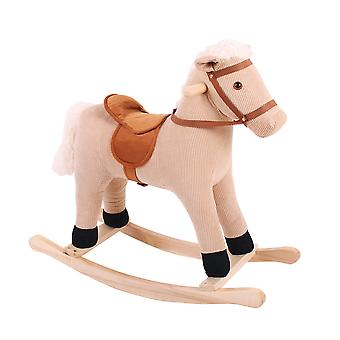 Bigjigs Toys Plush Cord Rocking Horse Traditional Ride On Rocker