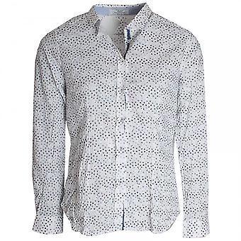 Vlt's By Valentina's Delicate Floral Design Boyfriend Shirt