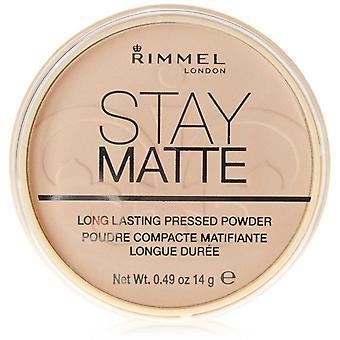 Rimmel Stay Mattgepresstes Pulver 001 Transparent 14g
