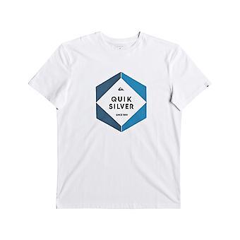 Quiksilver Hexa Logo Short Sleeve T-Shirt in White