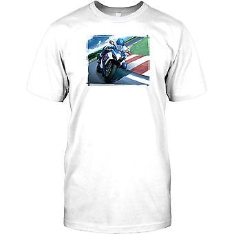 Suzuki GSXR sport motorcykel - knä ner Mens T Shirt