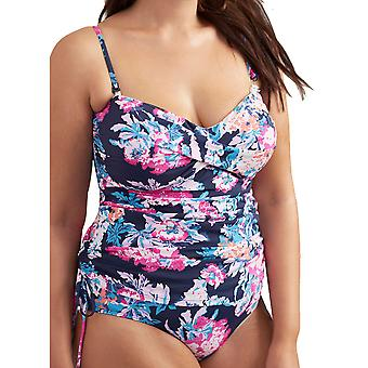 Joule Womens Delphine due Strap One Piece Swimsuit increspato