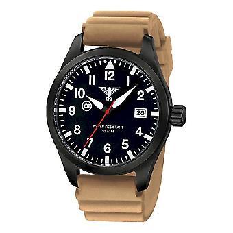 סיקים שעונים מנהיג האוויר שחור פלדה של שחורים. . אני מבין. גרמנית