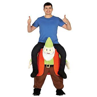 Mens ritje op Gnome Fancy Dress kostuum