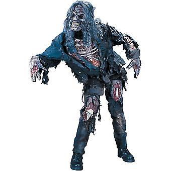 Zombie Halloween aikuisten puku