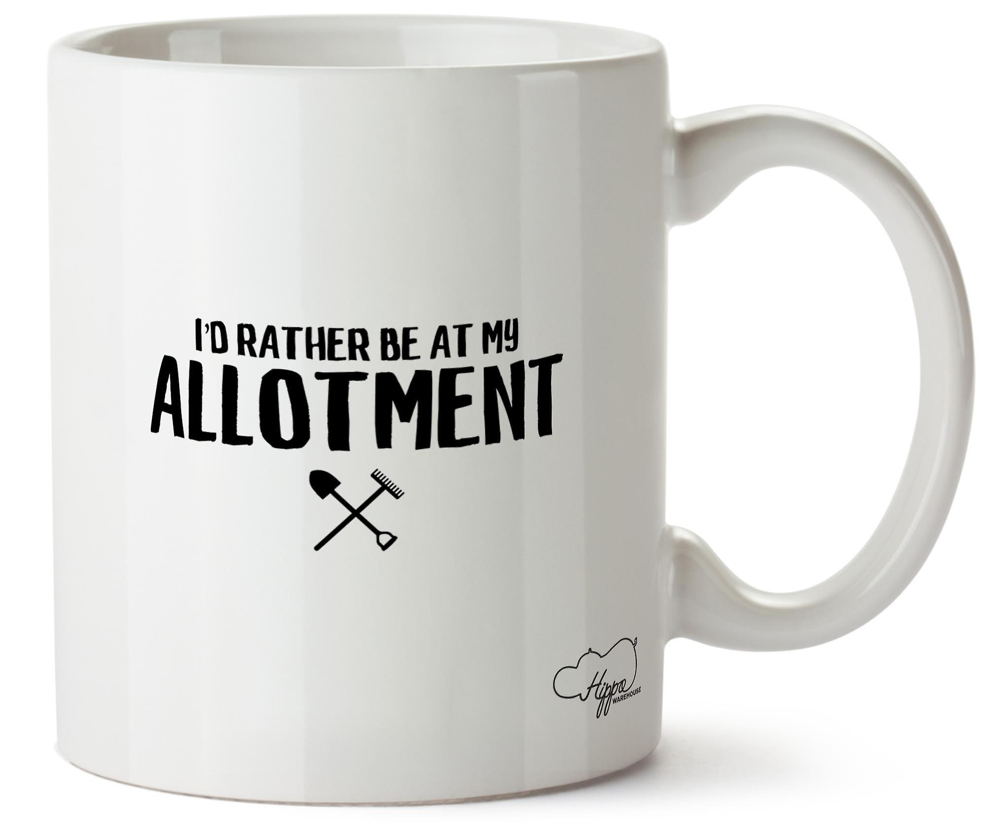 Hippowarehouse I'd Rather Be At My Allotment 10oz Mug Cup