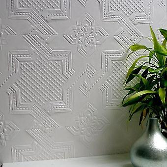 Paintable Wallpaper Luxury Textured Vinyl Embossed Durable Seymour Anaglypta