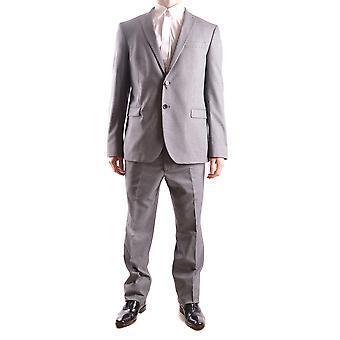 Manuel Ritz Ezbc128009 Men's Grey Polyester Suit