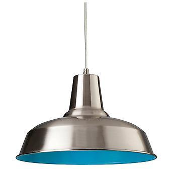 Firstlight Smart Pendant klar i borstat stål med blå insida