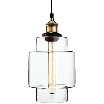 Firstlight - 1 Light Ceiling Pendant Antique Brass, Clear Glass - 3475AB