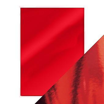 Craft Perfekt von Tonic Studios A4 Hochglanz Spiegel Karte 5pk Rubin rot