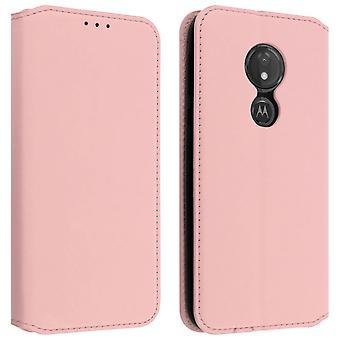Custodia Motorola Moto G7 Power Portacarte Funzione Supporto Rosa gold