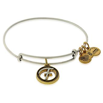 Alex and Ani Initial F Charm Bangle