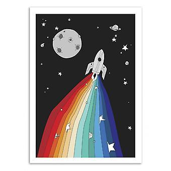 Art-Poster - Magic Rocket - Noel del Mar 50 x 70 cm