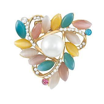 Eeuwige collectie Belle De Jour Faux Pearl en Cat's Eye Diamante sjaal Clip