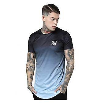 Sik Silk Curved Hem Tee Black/light Blue