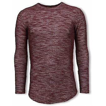 Long Fit Sweater-Burgundy Shirt