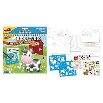 Joustra Kid Studio Book: Farm (Babies and Children , Toys , Educative And Creative)