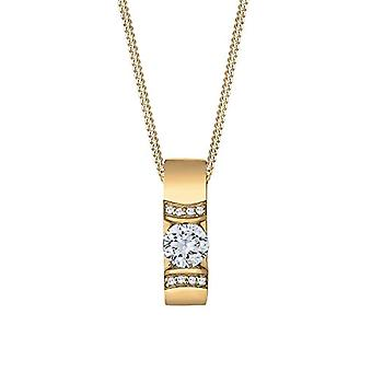 Elli - necklace with crystal pendant and silver chain Sterling 925 with zircons - silver - color: golden - cod. 0109692415_45