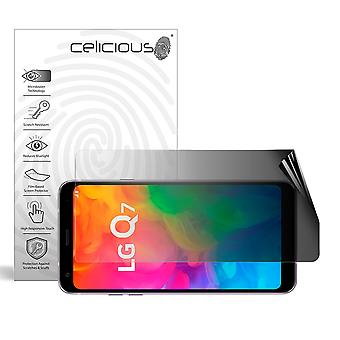 Celicious Privacy 2-Way Landscape Anti-Spy Filter Screen Protector Film Compatible with LG Q7