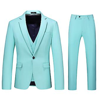 Allthemen Men's Tuxedos Suit 3-Pieces Solid Business Casual Blazer&Vest&Pants