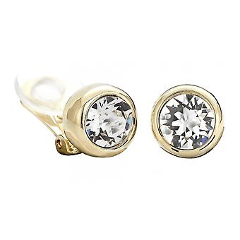 Traveller clip earring - 22ct gold plated - Swarovski Crystals - 156240