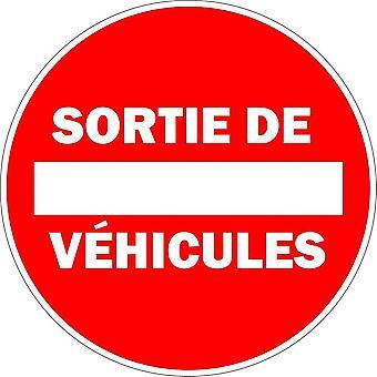 Autocollant Sticker Voiture Porte Portail Garage Sortie Vehicule Panneau