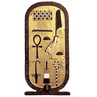 Sticker Sticker Ancient Egyptian Egyptian Cartouche Hierolglyph Toutankhamon
